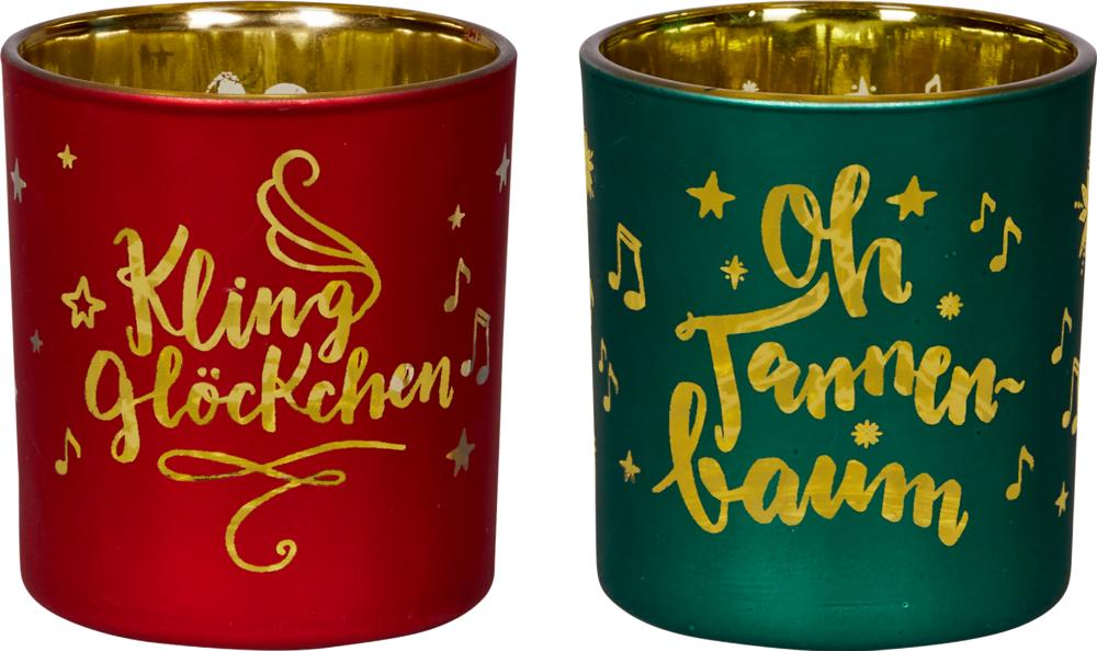 """grün, Weihnachtliches Windlicht """"Alle Jahre wieder..."""""""