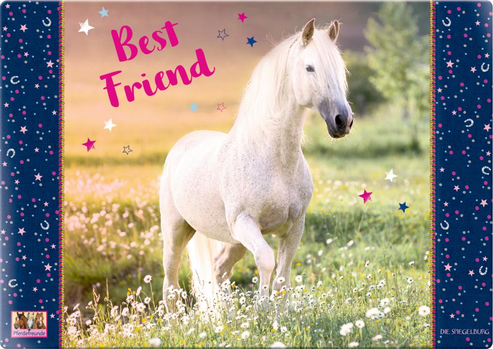 """Schreibtischauflage """"Best Friend""""  Pferdefreunde"""