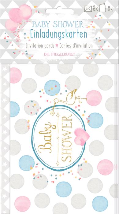 Einladungskarten Baby Shower (8 St.)