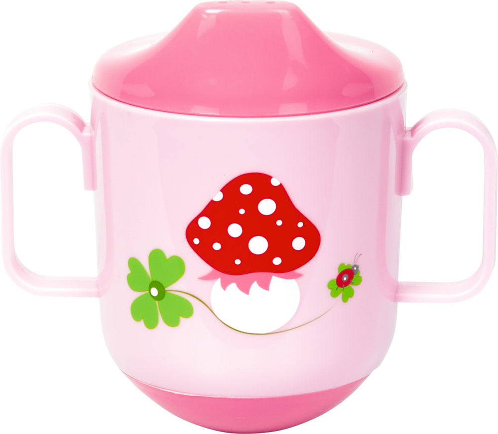 Steh-auf-Becher BabyGlück, rosa
