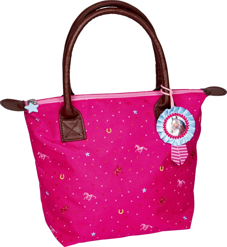 Tasche Pferdefreunde (pink mit Glitzer)