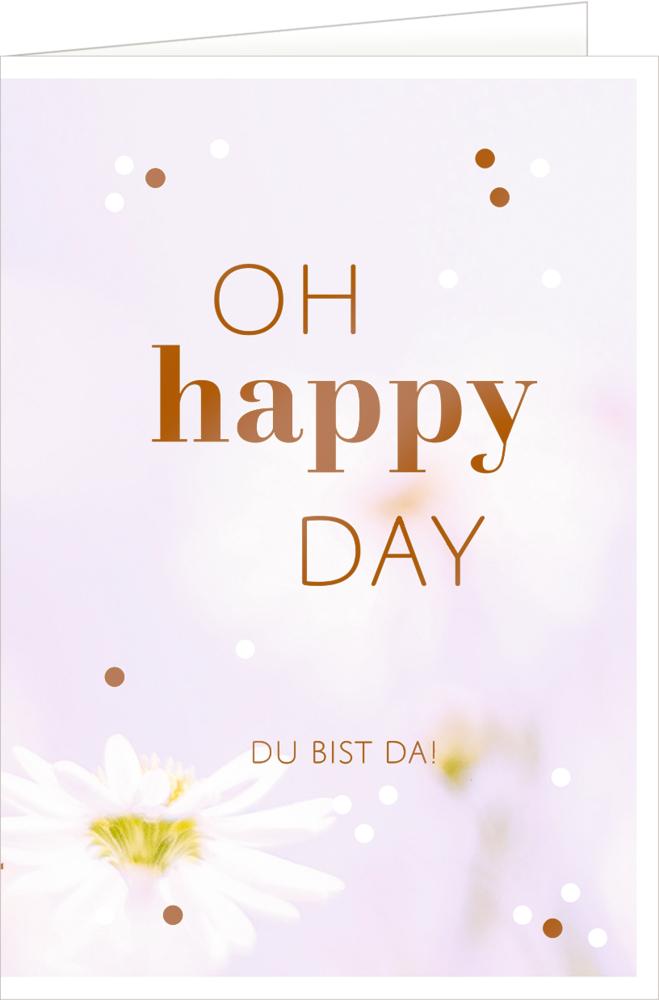 Happy Day, Grußkarte Hello, Baby!