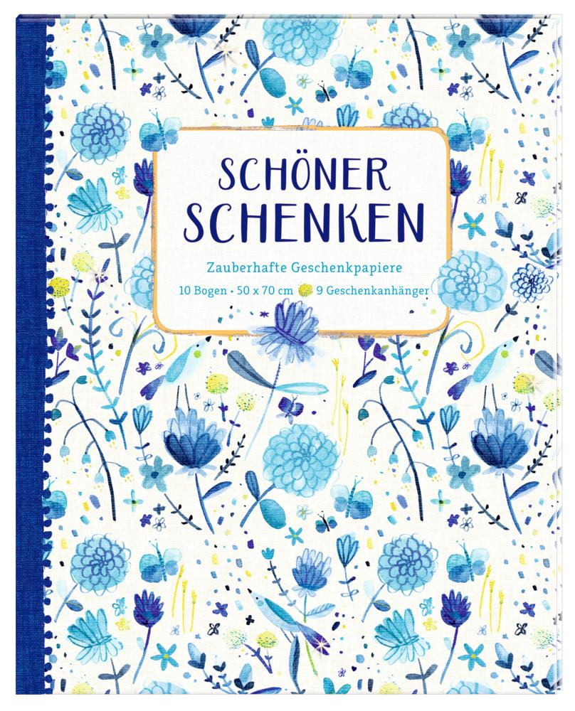 Geschenkpapier-Buch - Schöner schenken (All about blue)