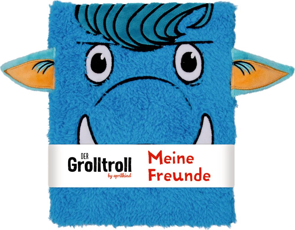 Freundebuch: Der Grolltroll - Meine Freunde (Plüscheinband)
