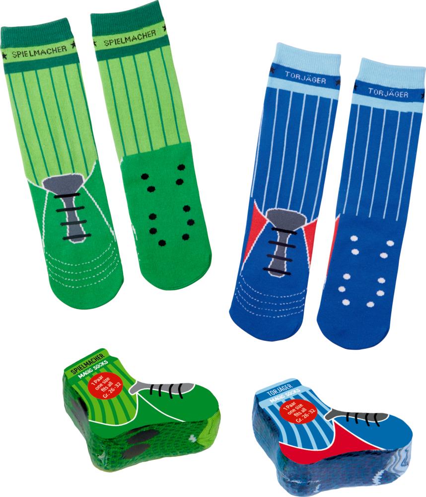 blaue Magic Socks Fußball, one size (Gr.26-32) Wild+Cool