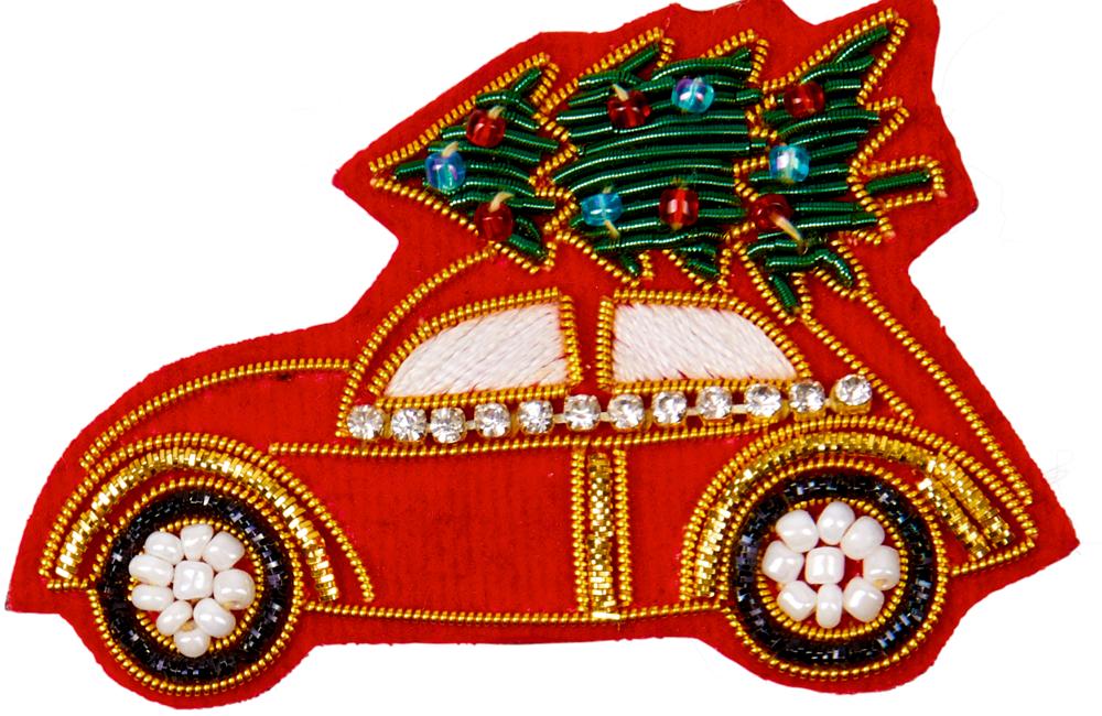 Auto, Brosche Endlich Weihnachten!