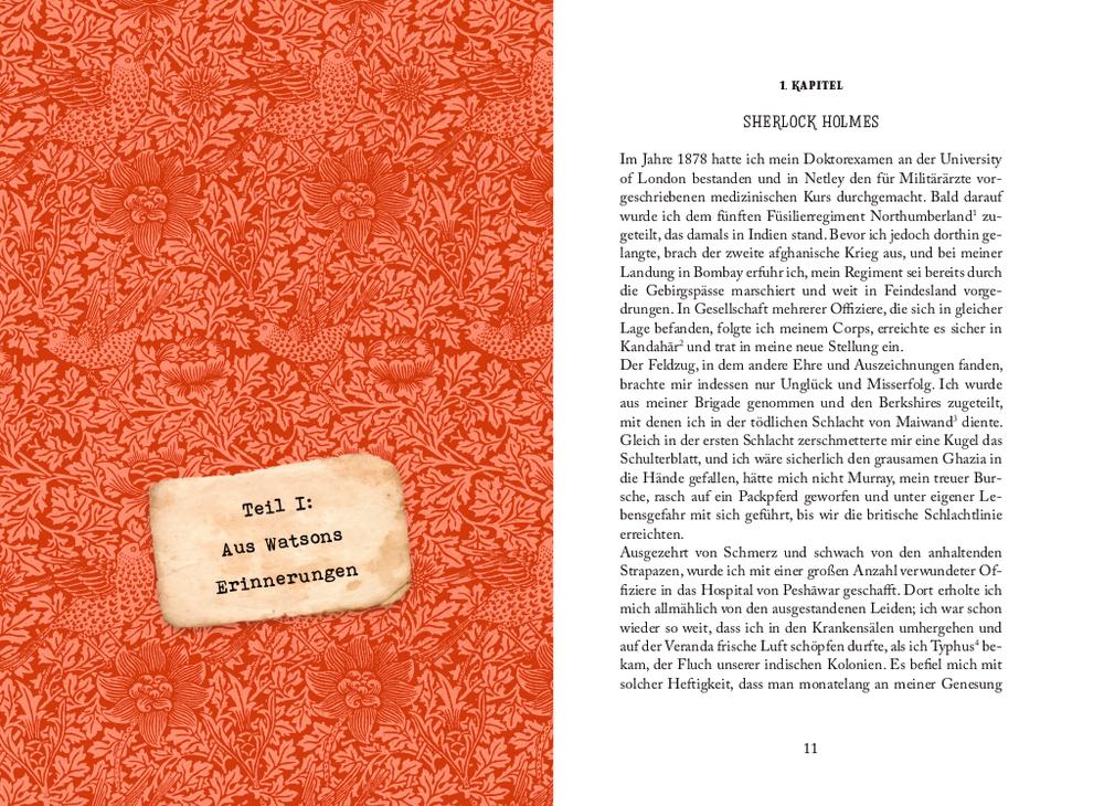 Kleine Schmuckausgabe: Sherlock Holmes (Bd.1) - Eine Studie/Im Zeichen