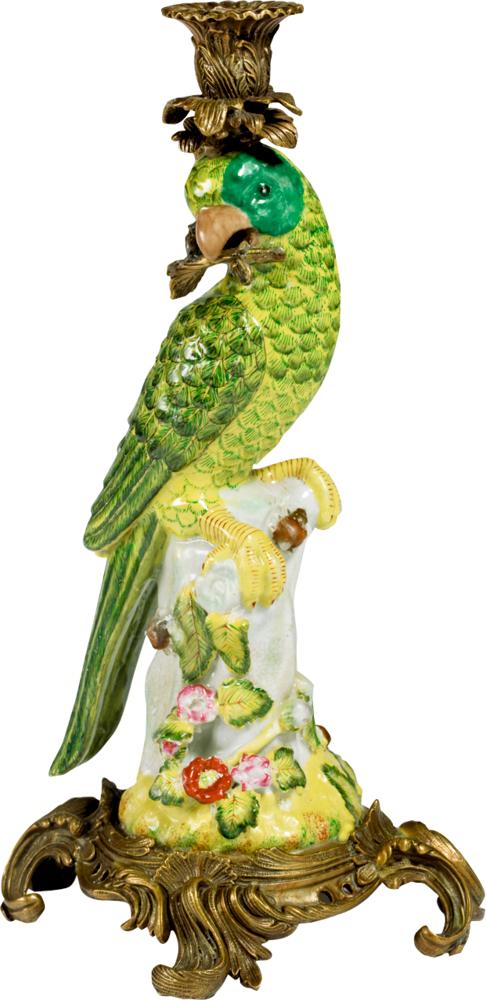Papageien-Kerzenhalter (links schauend) Lieblingsstücke