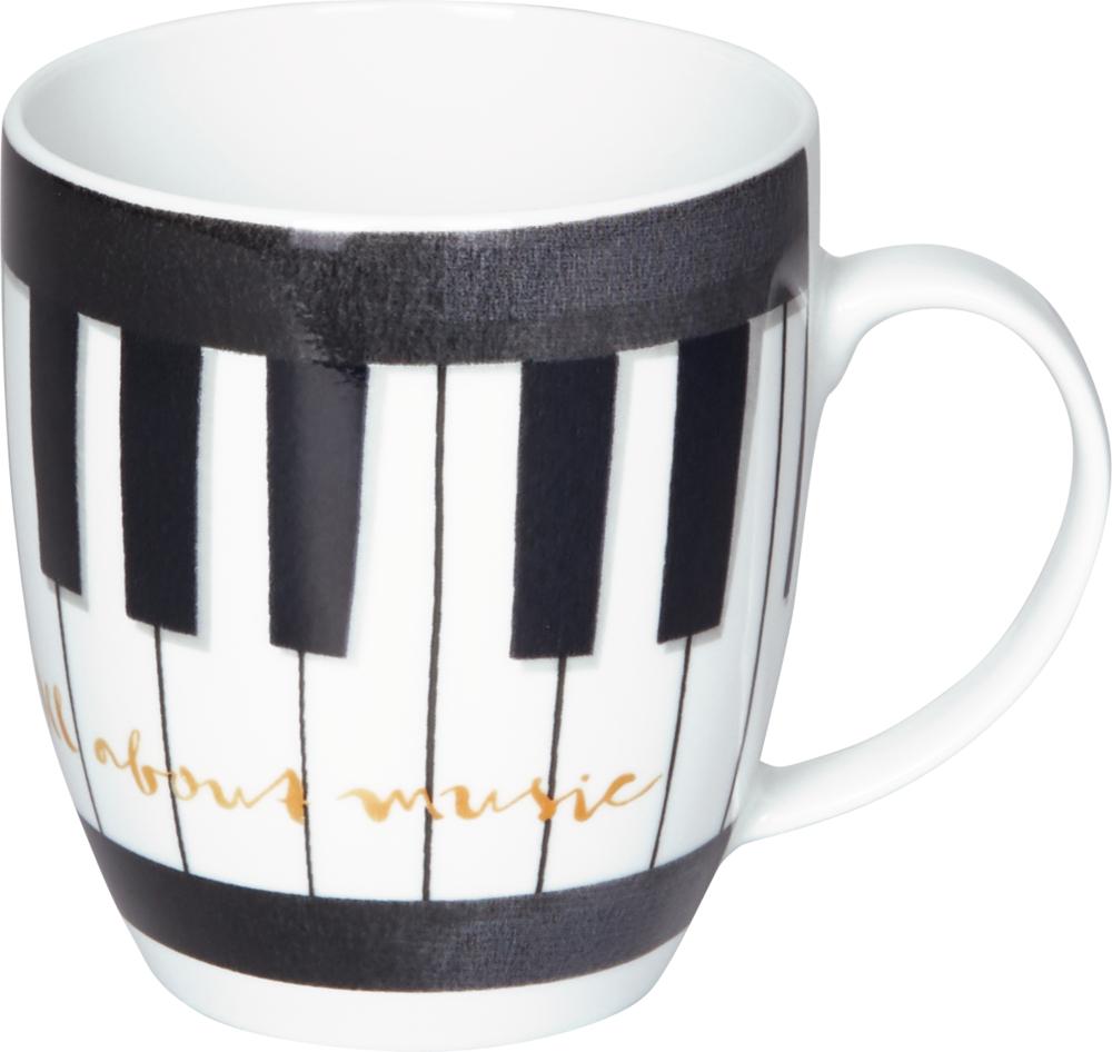 "Tasse ""Klaviatur"" All about music"