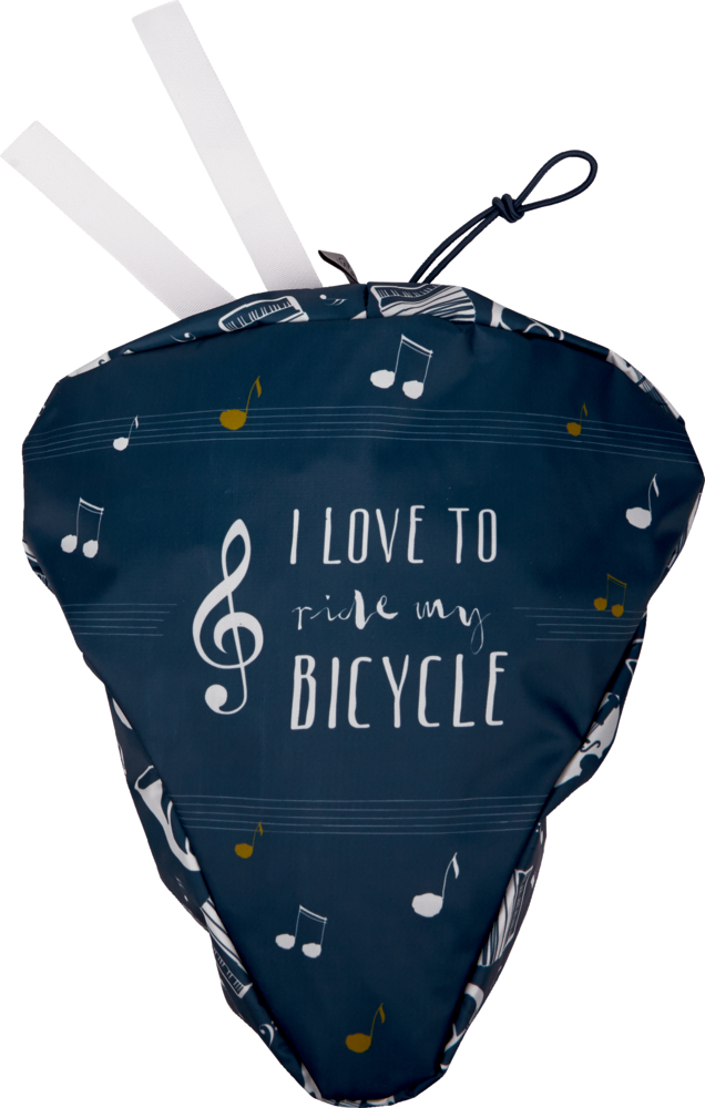 """Sattelschutz """"I love to ride ..."""" All about music"""