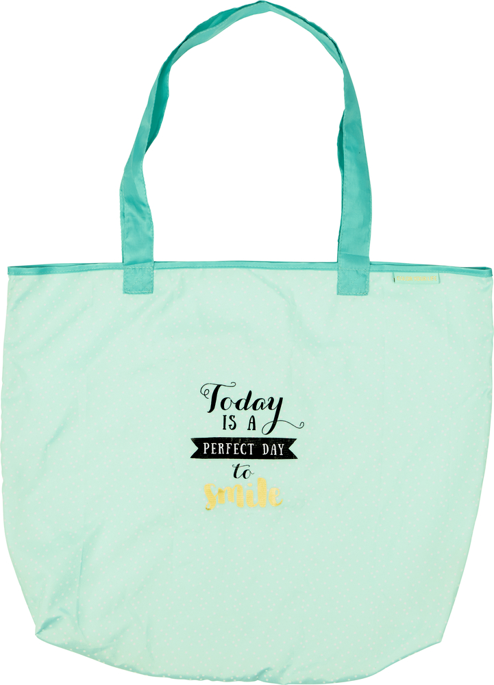 """Faltshopper """"Today is a perfect day to smile"""" Viel Glück"""