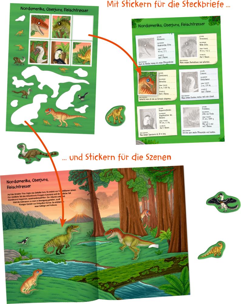 Natur-Stickerwelt: Dinosaurier & Co. (Nature Zoom)