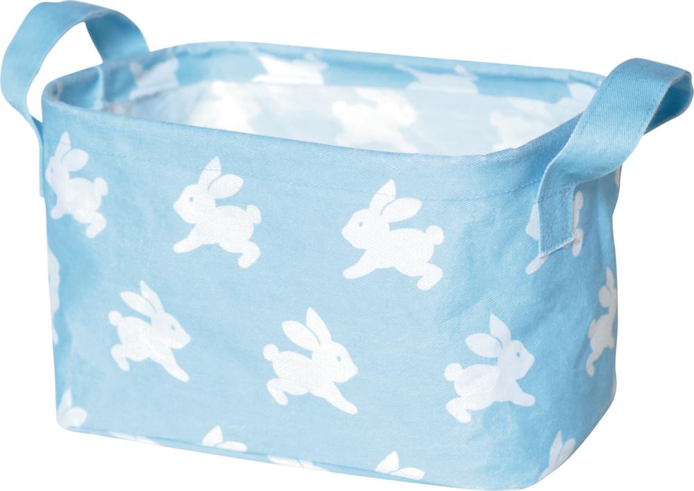 Kleiner Aufbewahrungskorb BabyGlück, hellblau Häschen