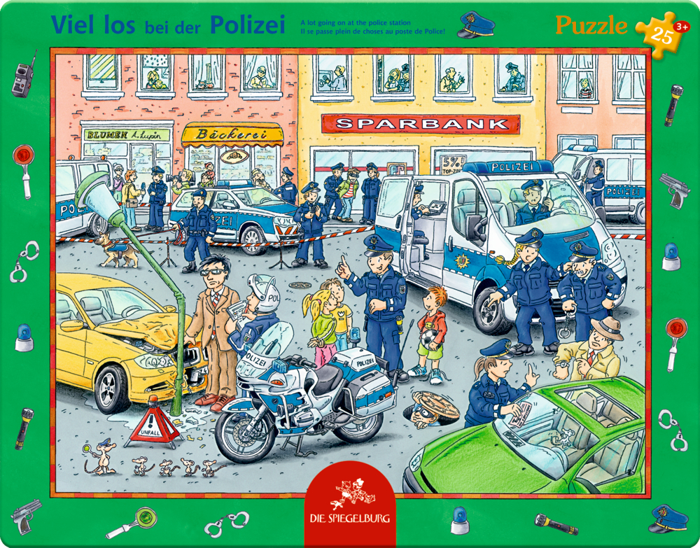 Rahmenpuzzle Viel los bei der Polizei (25 Teile)