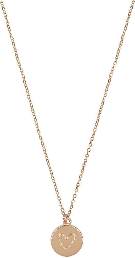 Halskette mit Herzanhänger (rosévergoldet)
