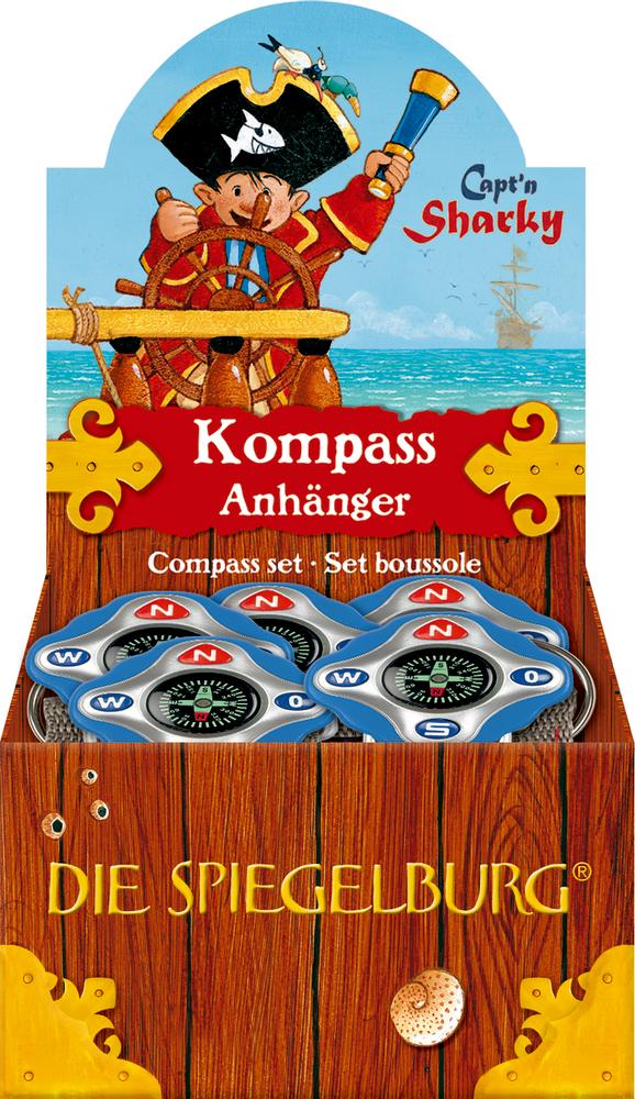 Kompass-Anhänger Capt'n Sharky