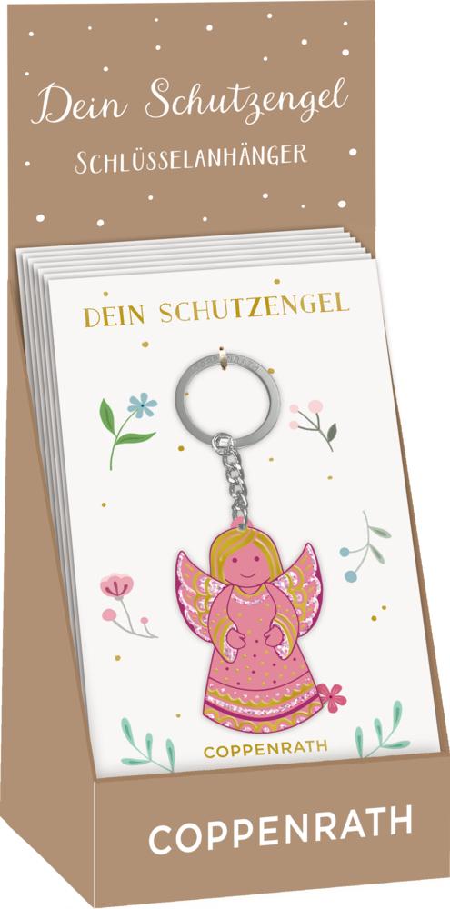 Schlüsselanhänger - Dein Schutzengel (pink)