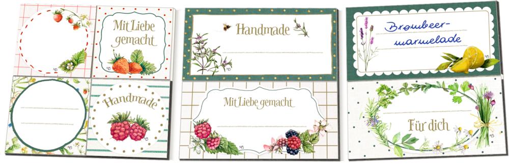 Etikettenbüchlein: Einmach-Etiketten (M. Bastin)