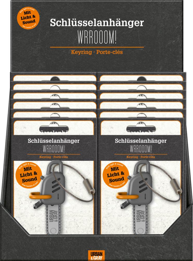 Schlüsselanhänger mit Licht & Sound WRROOOM!