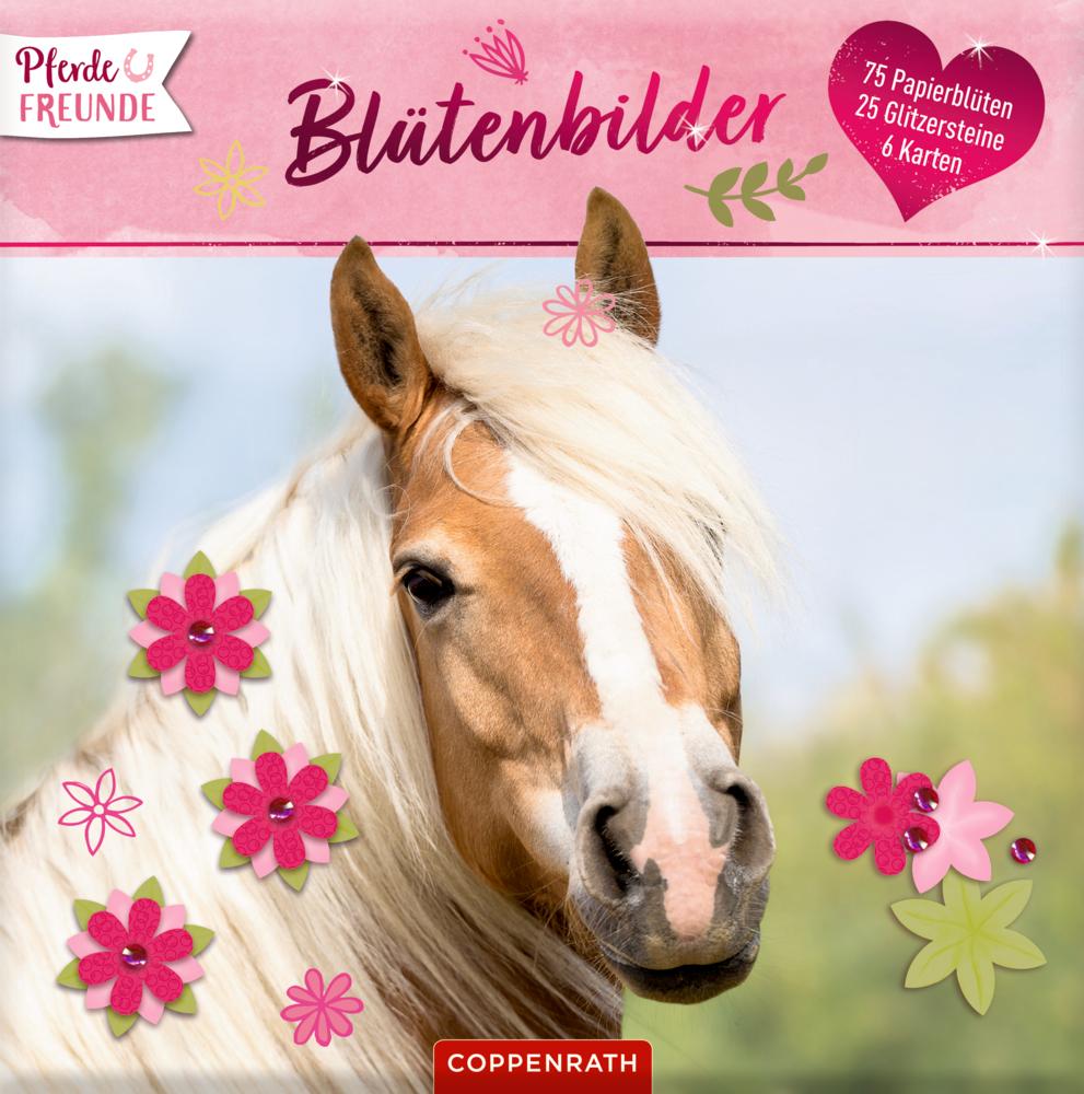 Pferdefreunde: Blütenbilder (Karten,Papierblumen & Glitzersteine)
