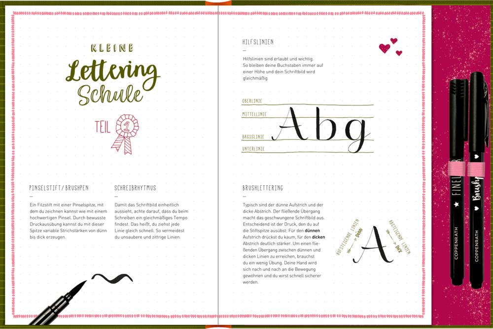 Notizbuch mit Extras - Pferdefreunde - My Handlettering Journal