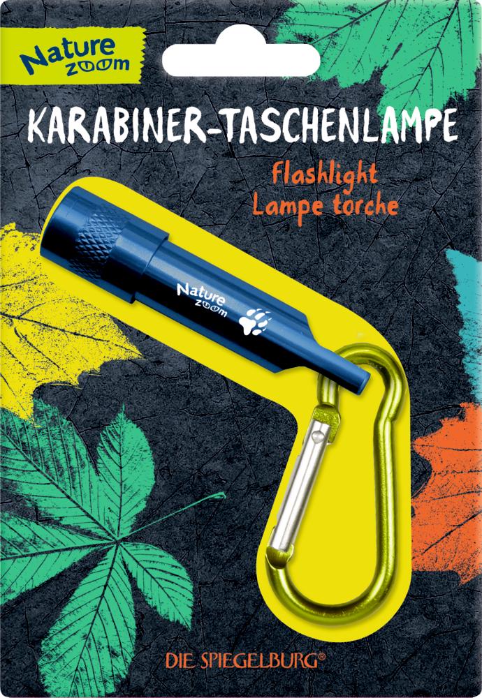 Karabiner-Taschenlampe Nature Zoom