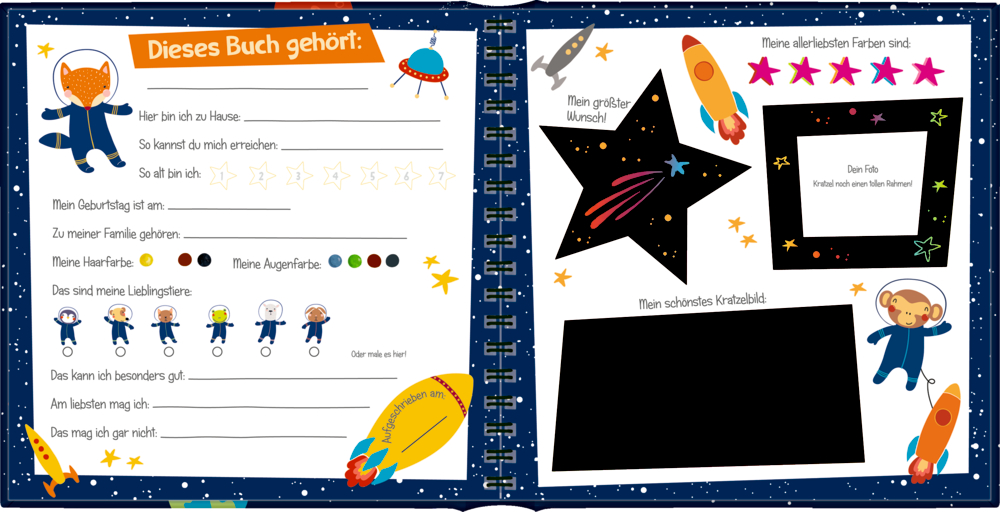 Freundebuch: Outer Space - Meine Kindergartenfreunde