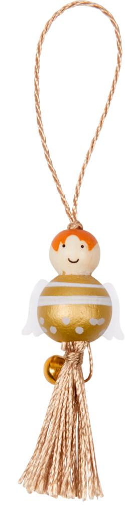 """Kleiner Deko-Weihnachtsengel aus Holz mit Schlaufe """"Alle Jahre wieder..."""""""