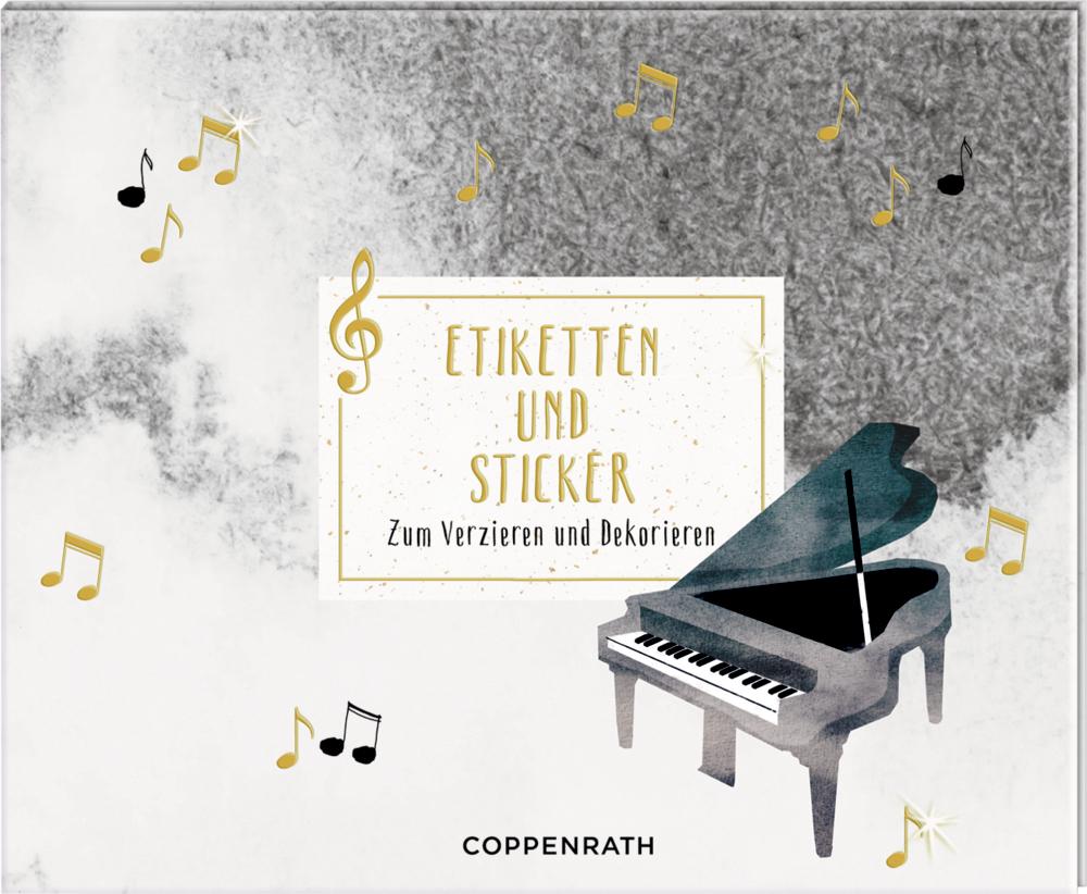 Stickerbuch - Etiketten und Sticker (All about music)