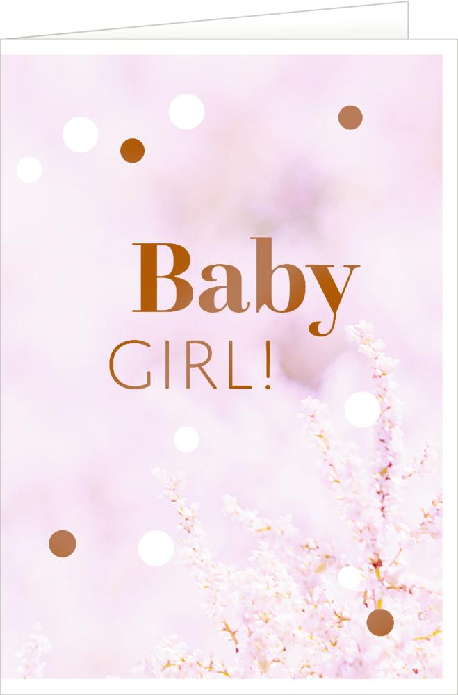 Girl, Grußkarte Hello, Baby!
