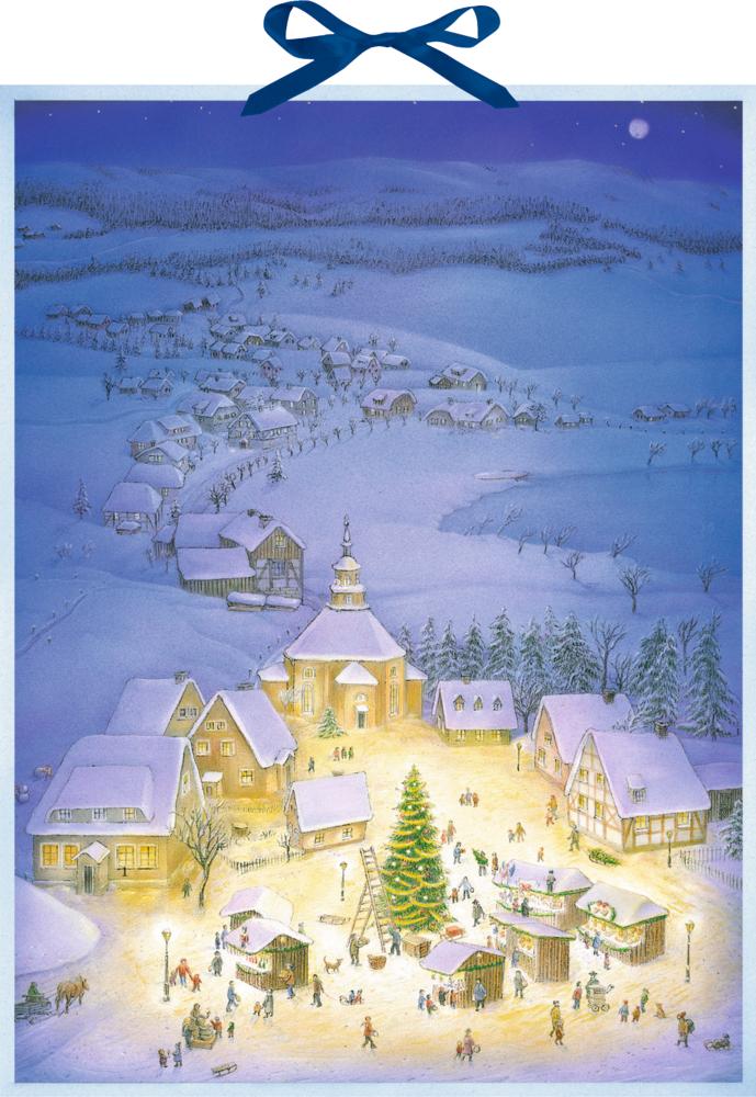 Weihnachtsdorf, Wand-Adventskalender