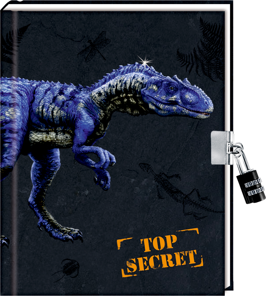 Tagebuch T-REX World - Top Secret mit Zahlenschloss