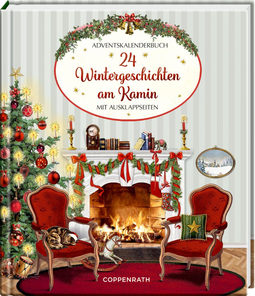 Adventskalenderbuch: 24 Wintergeschichten am Kamin (Behr)