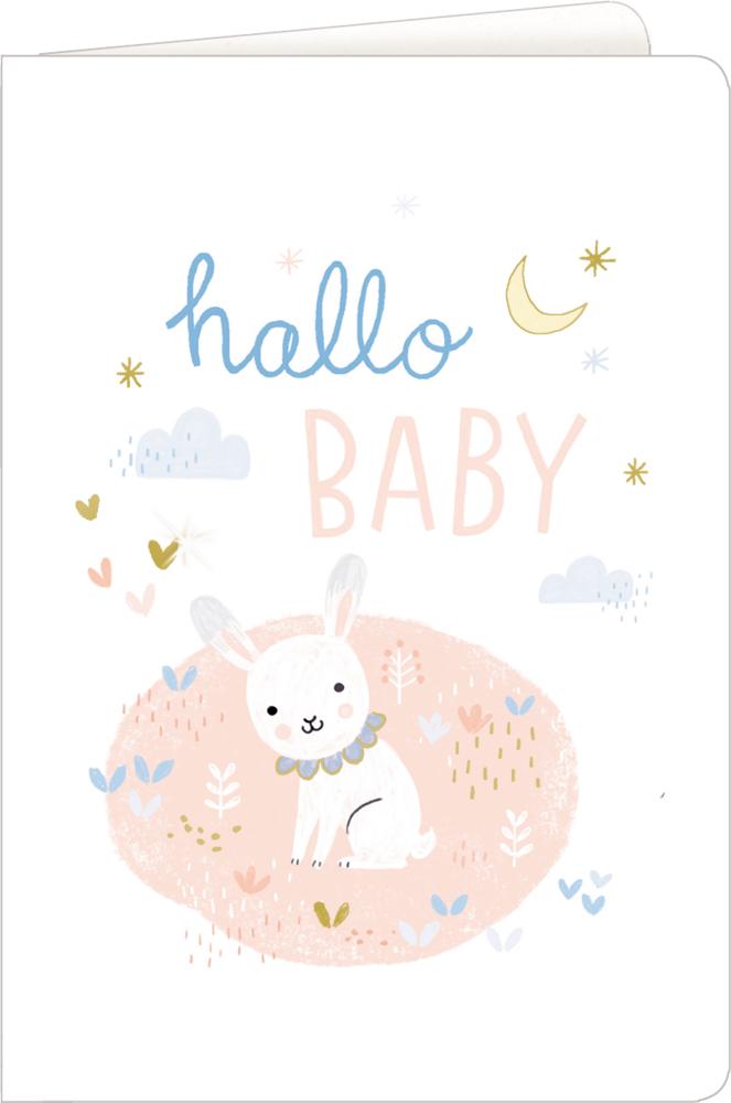 hallo/Hase, Grußkarte Meine kleine Welt - Willkommen!