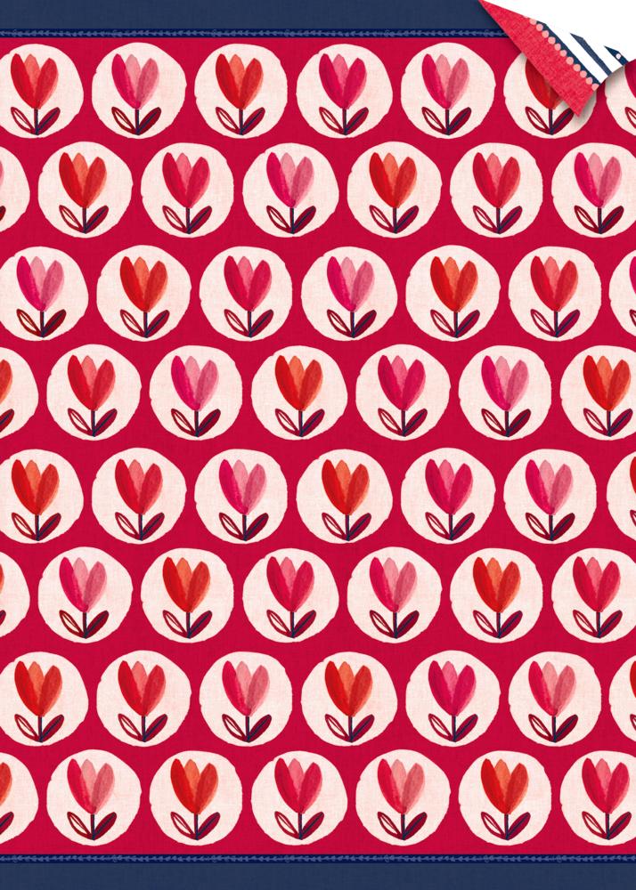 Geschenkpapier-Bogen - All about red