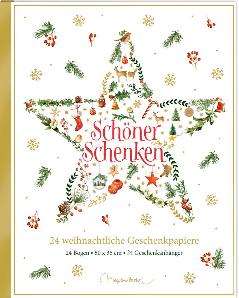 Geschenkpapier-Buch: Schöner schenken (weihnachtlich/Bastin)