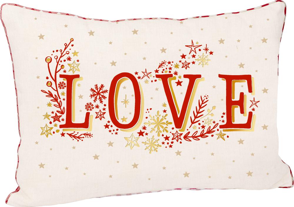 Kissen Love Endlich Weihnachten! (ca.50x35 cm)