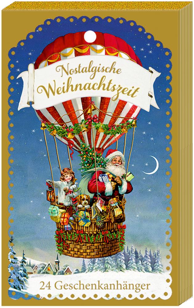 Nostalgische Weihnachtszeit - 24 Geschenkanhänger, Adventskalender (Behr)