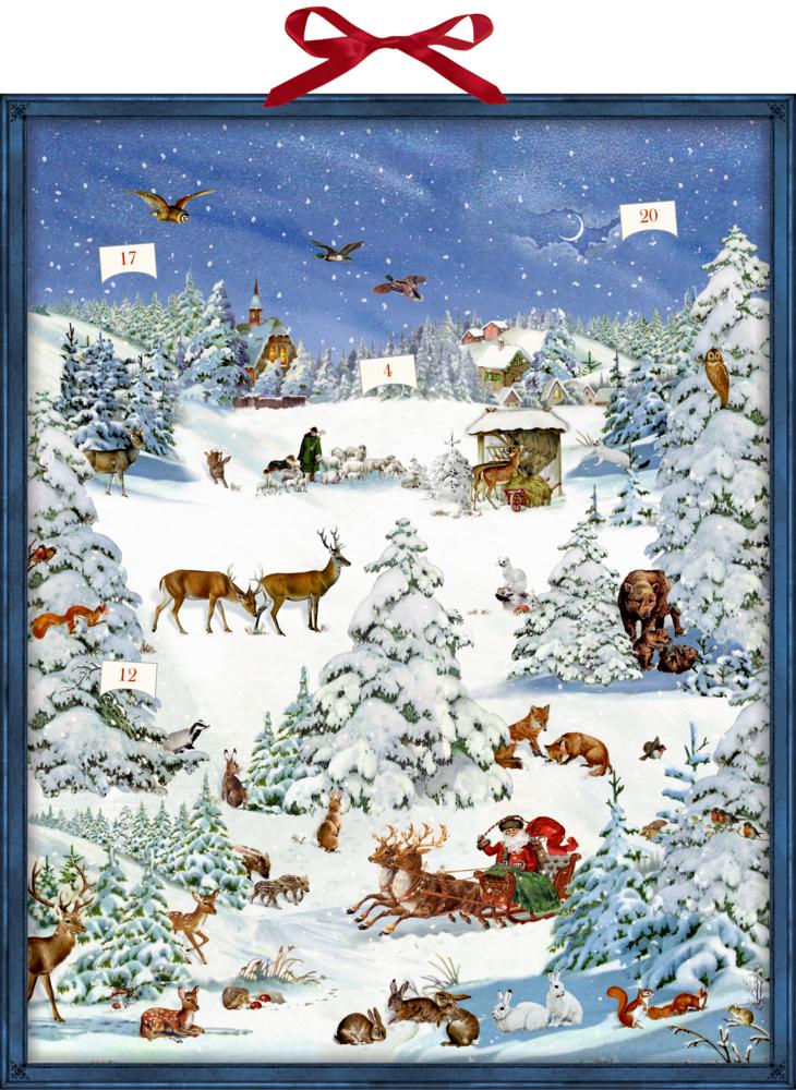 Winterwunderland, Zettel-Adventskalender mit Pop-up (Behr)