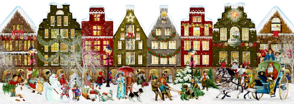Nostalgisches Häuserleporello, Adventskalender (Behr)