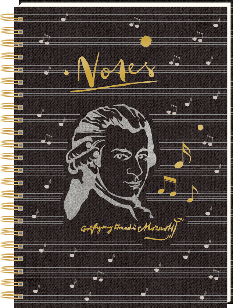 """Ringbuch DIN A4 """"Notes"""" Ed. Mozart (All about music)"""
