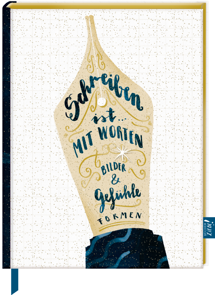 Notizbuch mit Glitzereinband - BücherLiebe