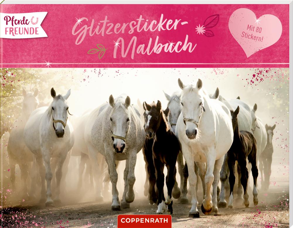 Pferdefreunde: Glitzersticker-Malbuch