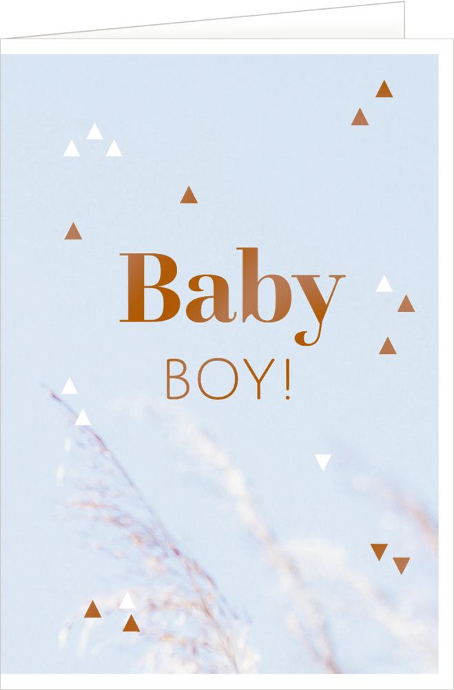 Boy, Grußkarte Hello, Baby!