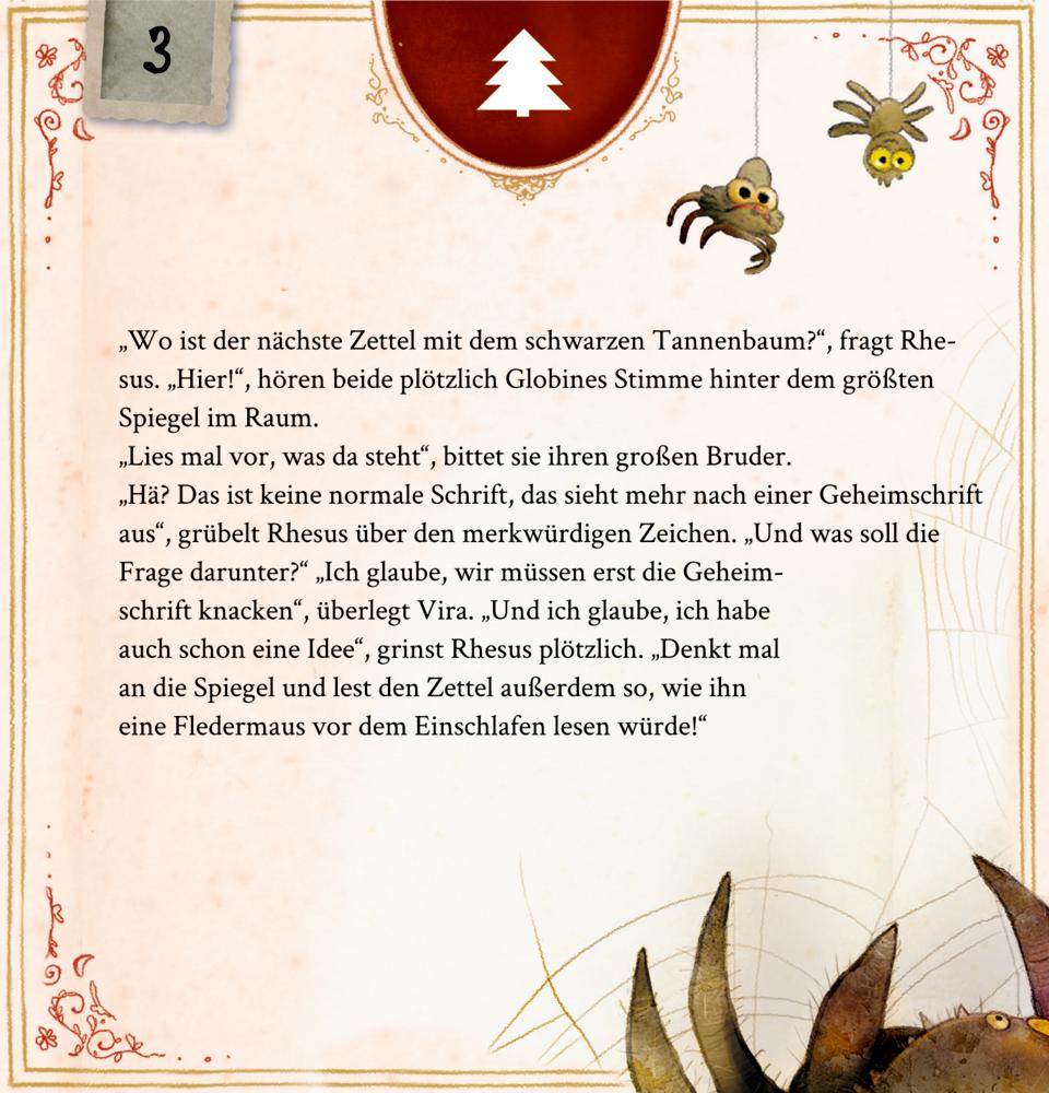 Memento Monstrum - Das geheimnisvolle Schloss, Zettel-Adventskalender mit Rätseln
