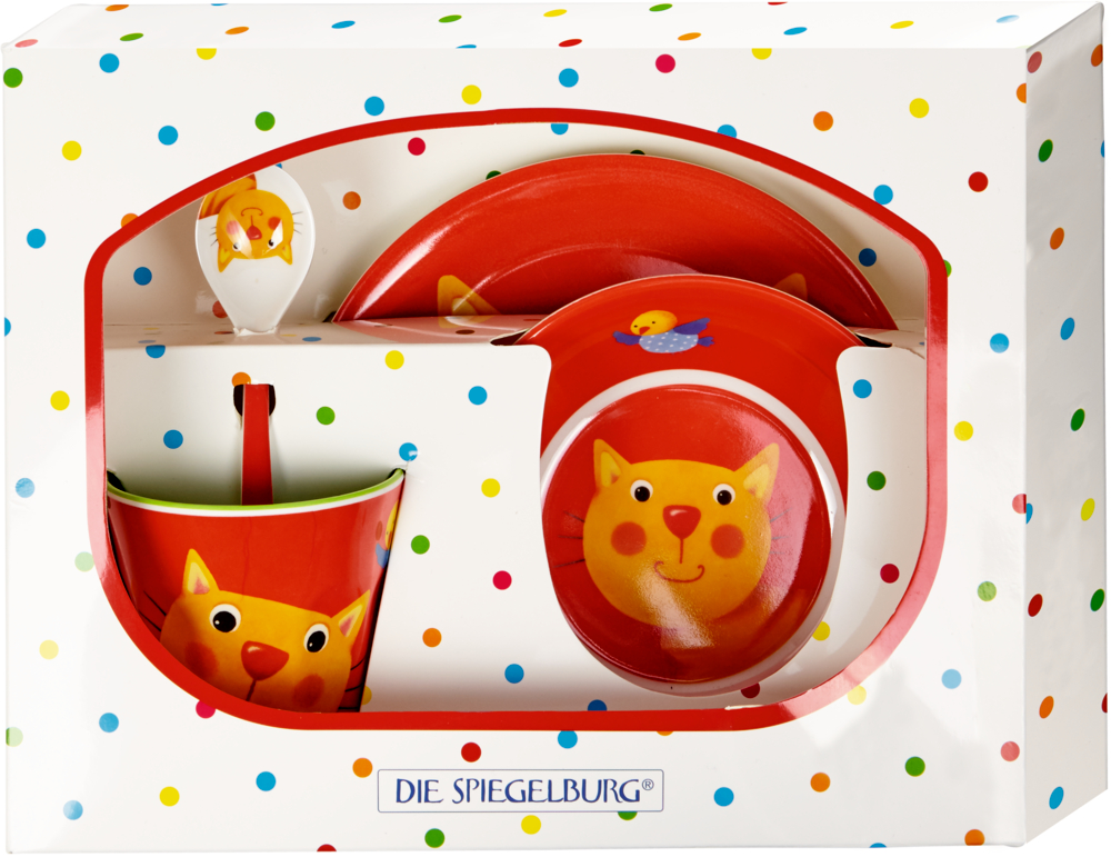 Melamin-Geschenkset Katze  Freche Rasselbande