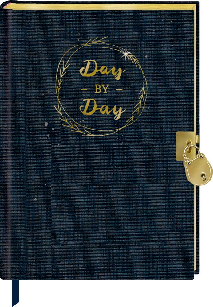"""Tagebuch mit Schloss """"Day by day"""" BücherLiebe"""