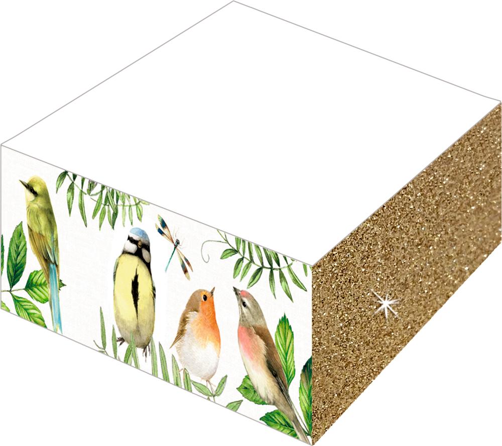 Notizblock mit Farb- und Glitterschnitt Gartenliebe (Bastin)
