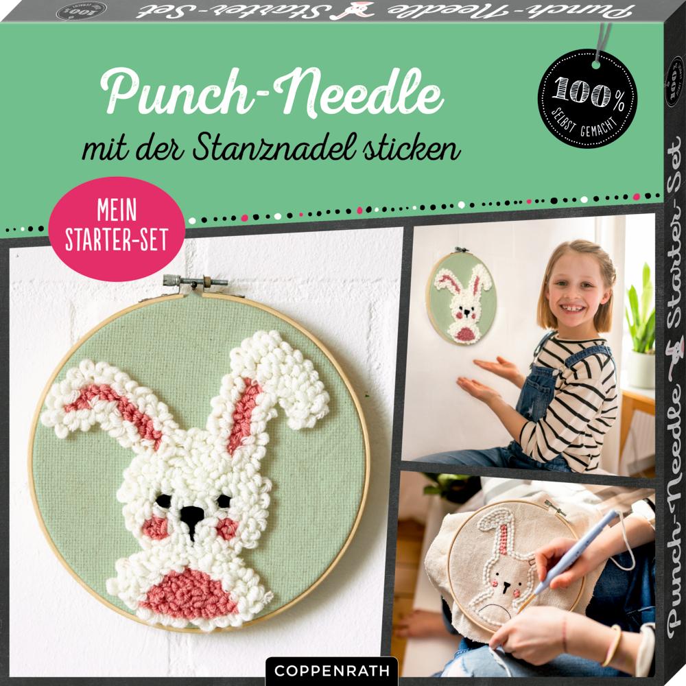 """Mein Punch-Needle Starter-Set """"Häschen"""" (100% selbst gemacht)"""