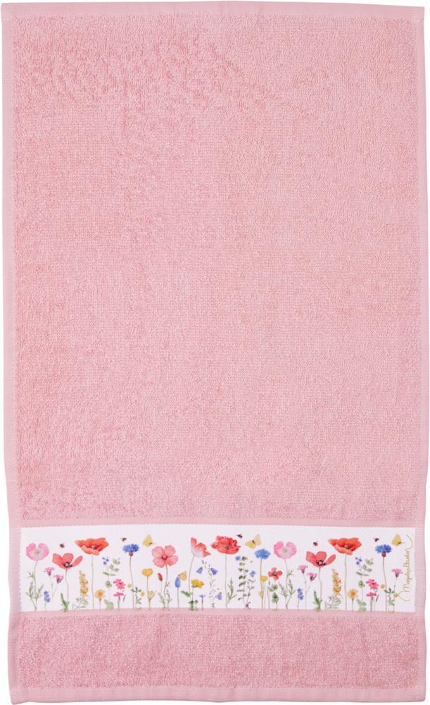 rosa Gästehandtuch GartenLiebe (ca. 30x50 cm) (M. Bastin)